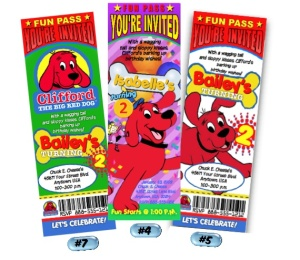 clifford party invitations 2