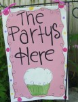the partys here banner